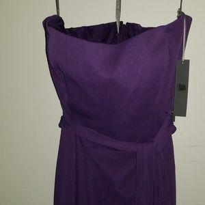 Vera Wang White Purple Mermaid Gown